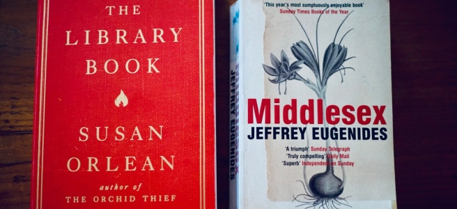 April reading - the library book and middlesex